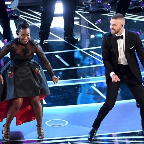 La actuación de Justin Timberlake  en los Óscar 2017