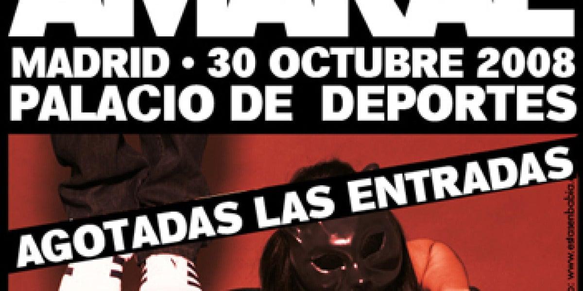 Sold Out de Amaral en Madrid