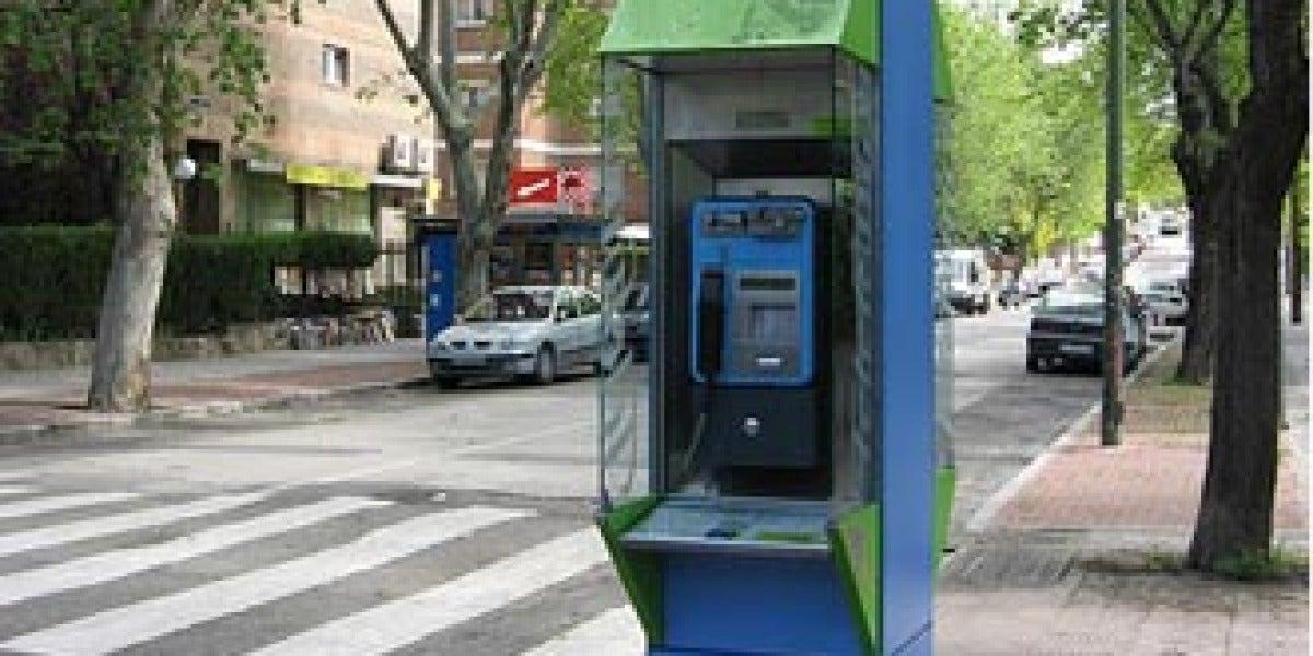 Cabina de teléfono en Madrid