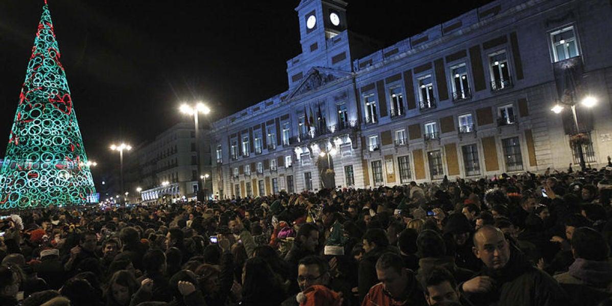 Campanadas en la Puerta del Sol