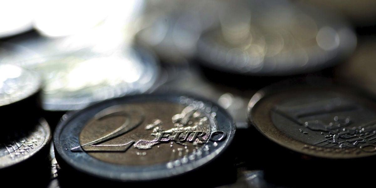 Monedas de 2 y 1 euro