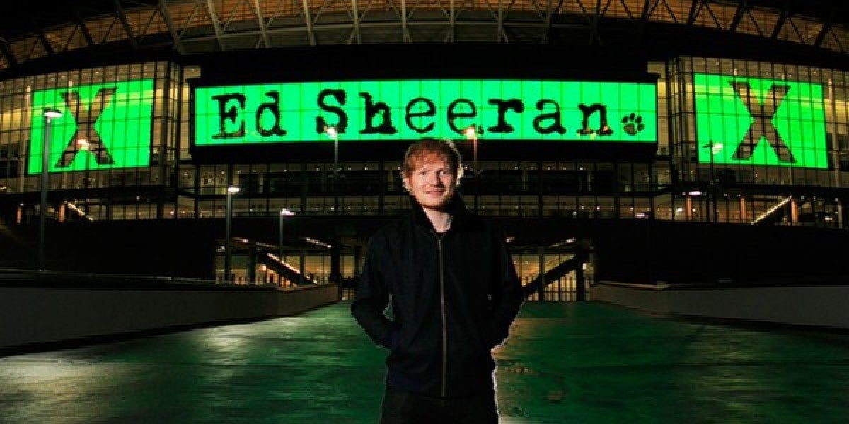 Ed Sheeran en Wembley Stadium