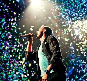 Chris Martin, cantante de Coldplay