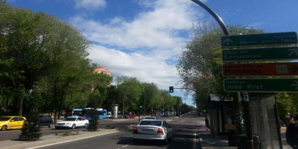 Control de semáforo en rojo, Madrid
