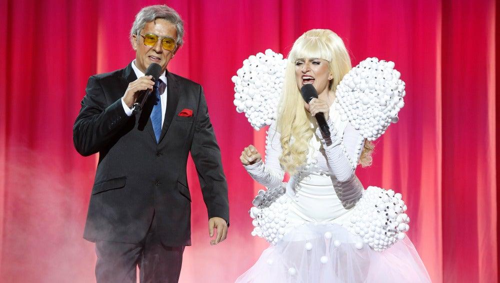 Silvia Abril y Buenafuente imitan a Lady Gaga y Tony Bennett