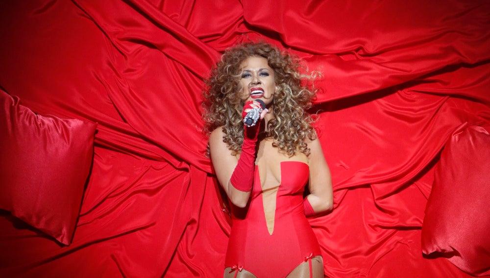 Lorena Gómez imita a Beyoncé