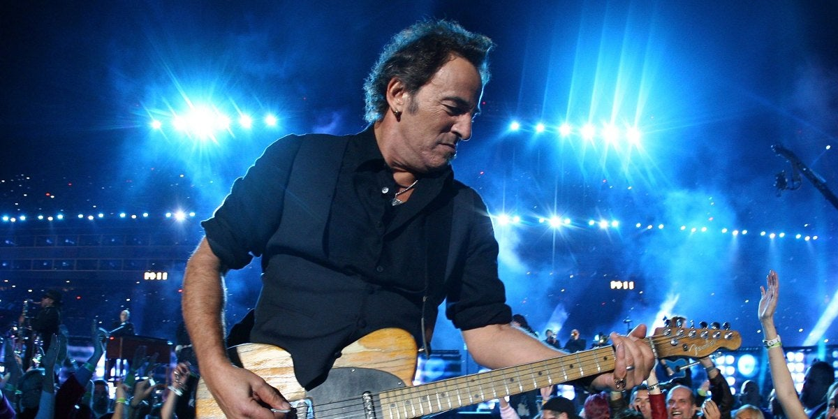 Bruce Springsteen, durante una actuación