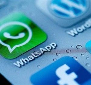 Logo de WhatsApp en un iPhone