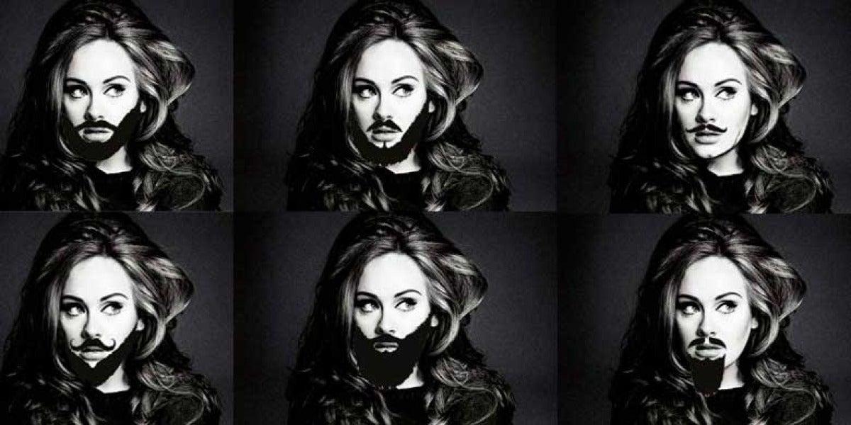 Adele con barba - Montaje