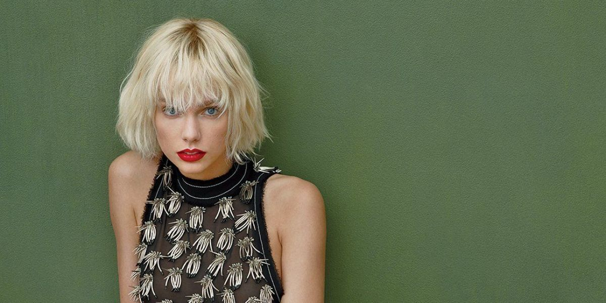 Taylor Swift estrenando nuevo look para Vogue