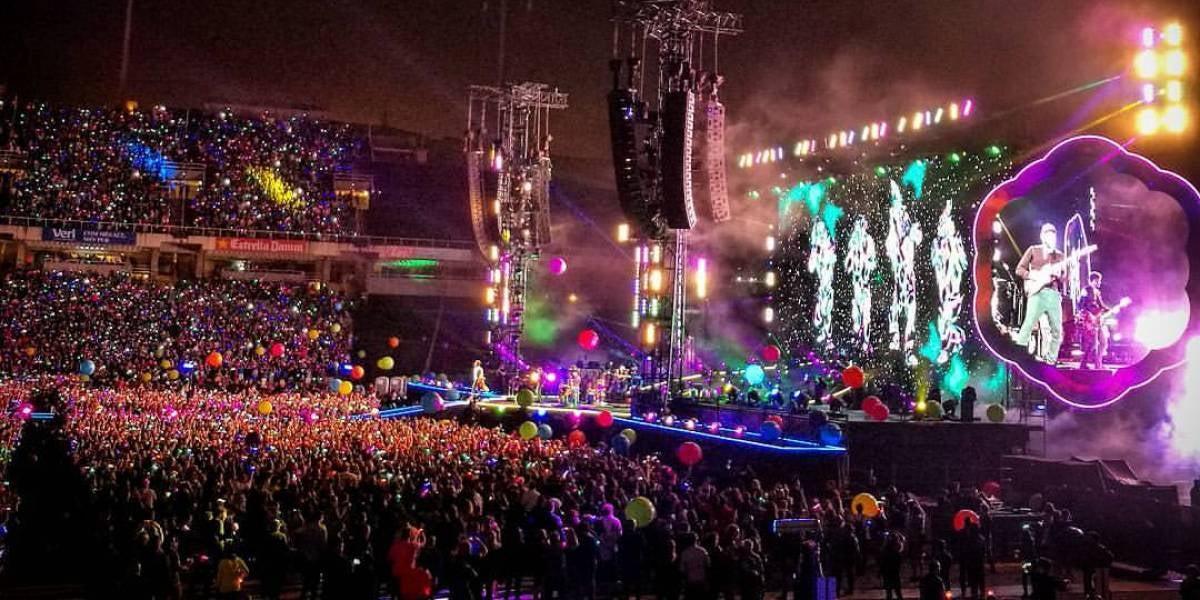 Coldplay en su concierto en Barcelona