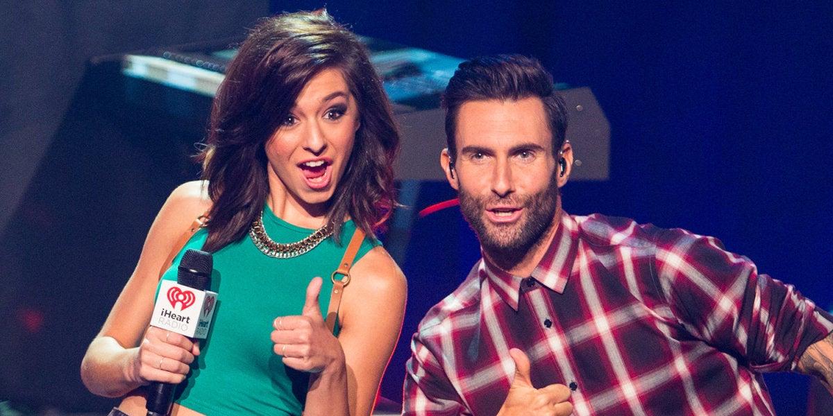 Christina Grimmie y Adam Levine