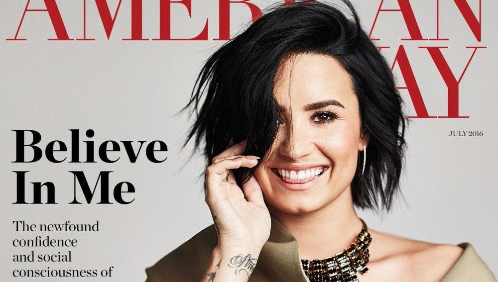 Demi Lovato habla de sus adicciones en la revista American Way