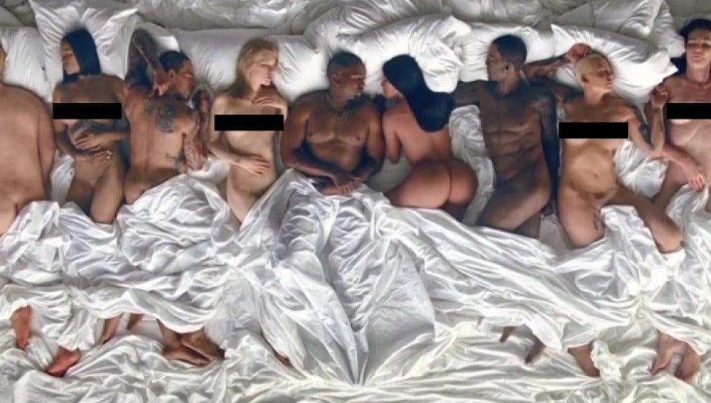 Kanye West se monta una orgía de famosos en su nuevo vídeo