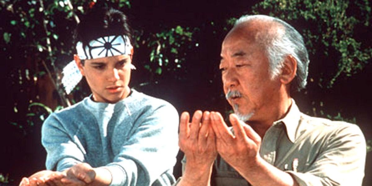 Daniel San y el Señor Miyagi en Karate Kid