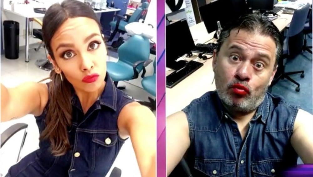 Miki Nadal imita los selfies de Cristina Pedroche