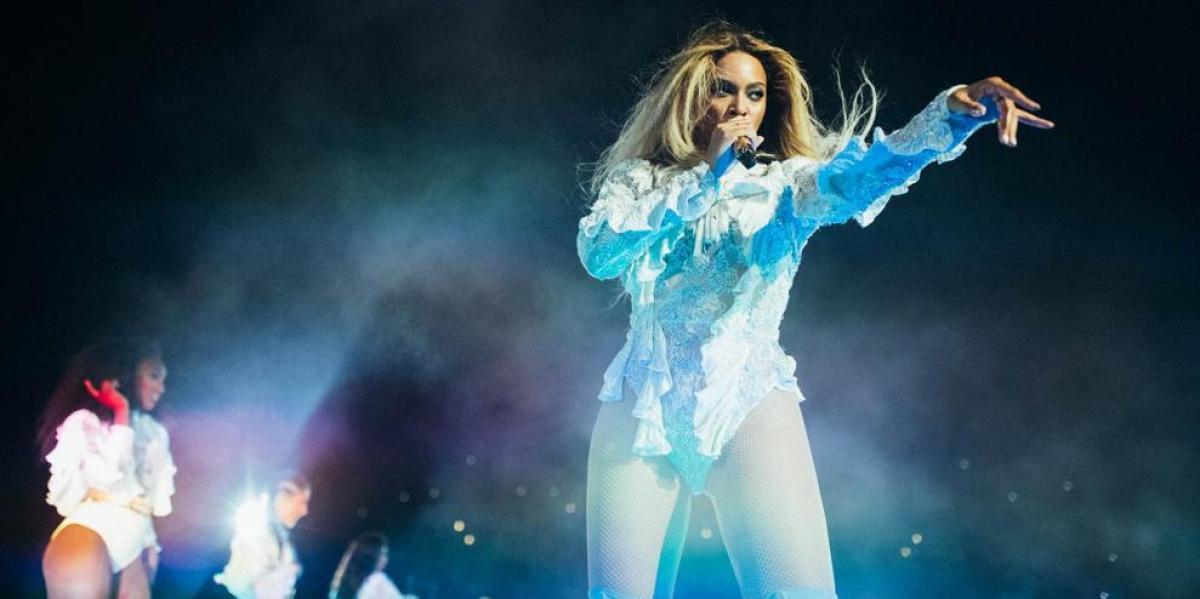 Beyoncé en el concierto de Barcelona