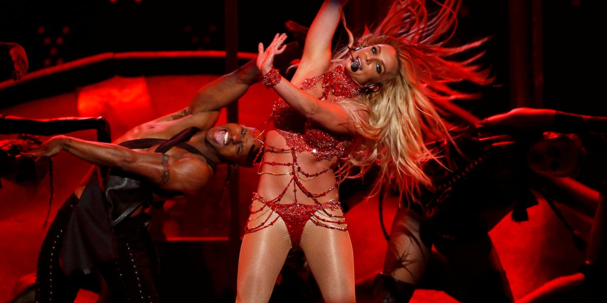Britney Spears durante su último concierto en Las Vegas, UNITED STATES