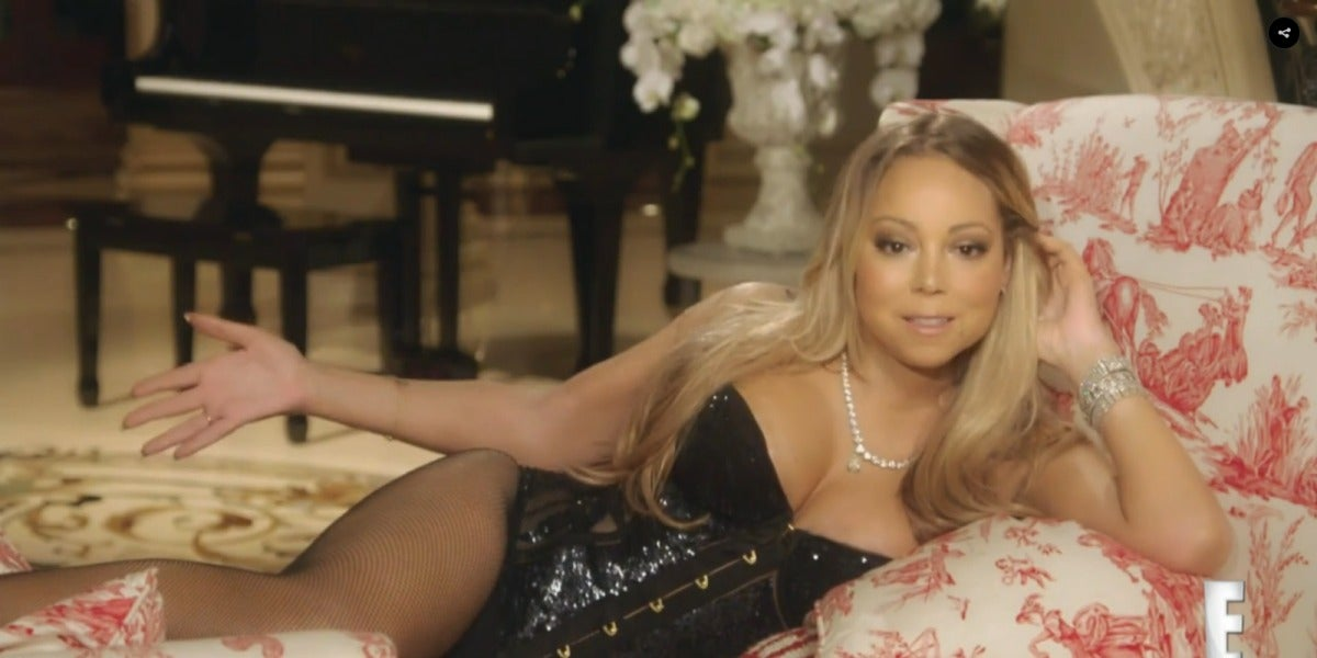 Mariah Carey en la promo de su reallity 'Mariah's World'