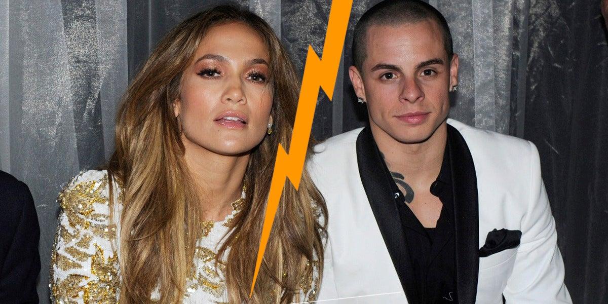 Jennifer Lopez junto a su ex novio Casper Smart