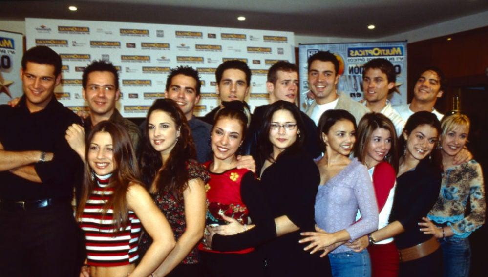 Los concursantes de la primera edición de Operación Triunfo