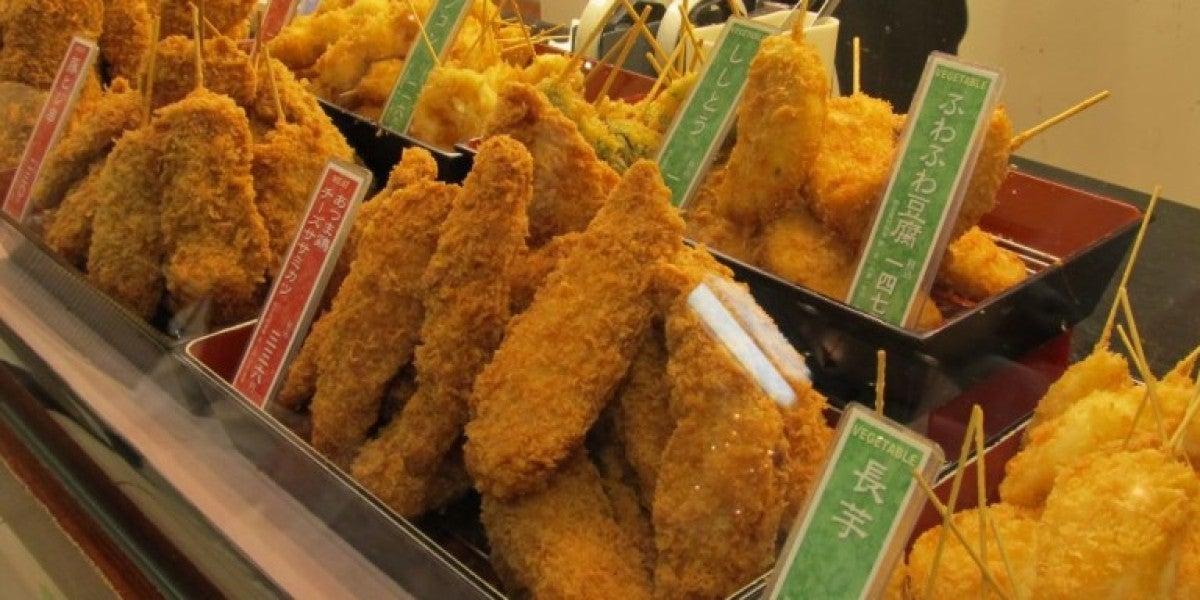 Kushikatsu, la brocheta rebozada japonesa