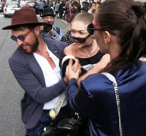 Gigi Hadid atacada durante la Milan Fashion Week