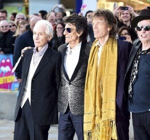 Los cuatro miembros de los Rolling Stones, Charlie Watts, Ronnie Wood, Mick Jagger y Keith Richards