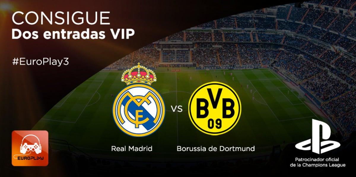 Consigue 2 entradas VIP para el partido Real Madrid-Borussia de Dortmund