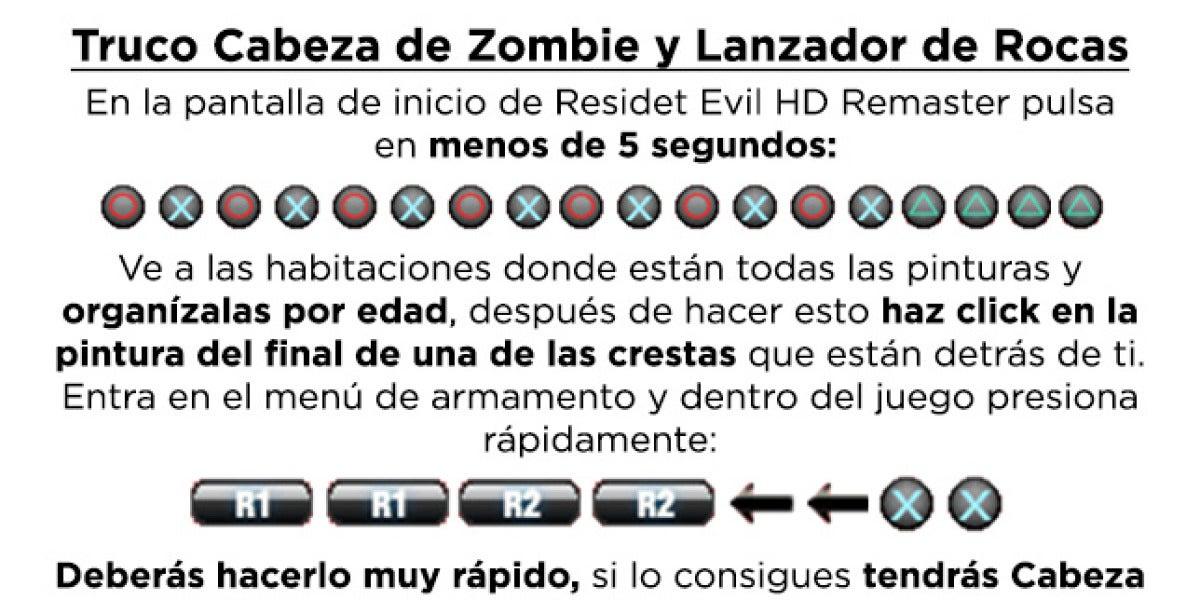 Truco Cabeza de Zombie y Lanzador de Rocas
