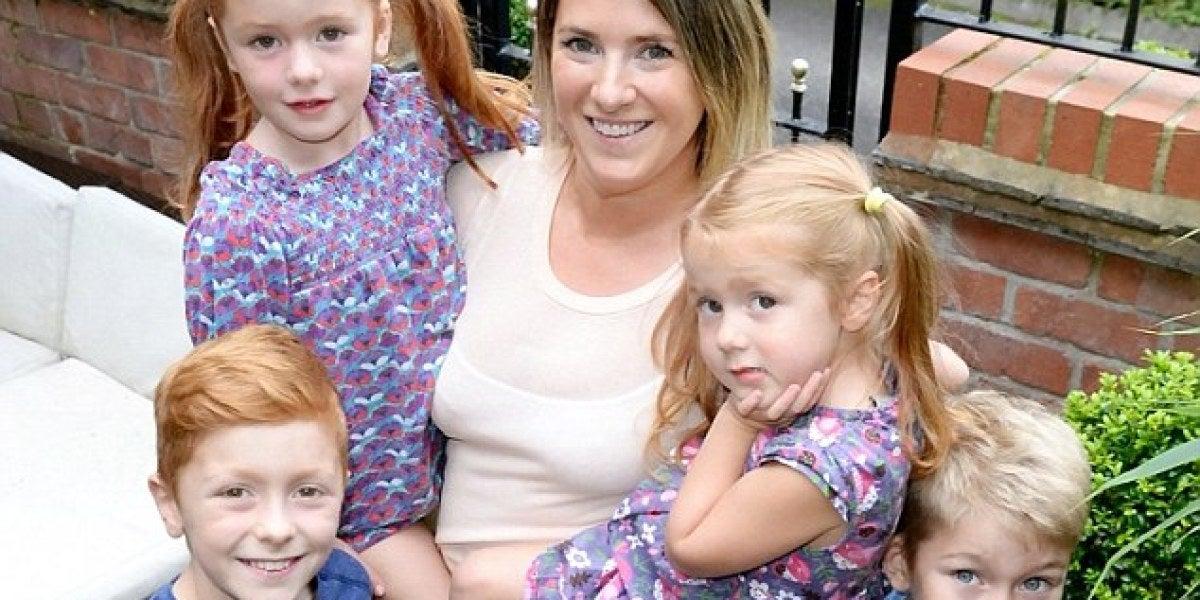 Emily Street con sus hijos