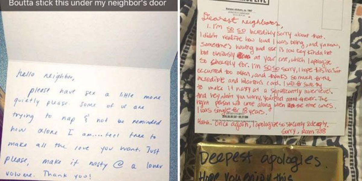 Carta de Jenna y la respuesta de sus vecinos.