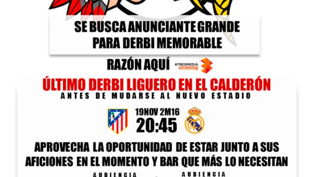 Se busca anunciante para derbi memorable