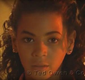 Beyoncé con 10 años, en uno de los vídeos que se subastan