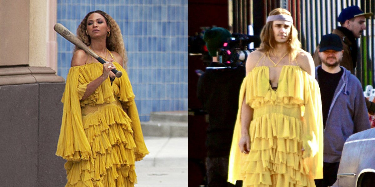 James Franco vestido como Beyoncé en el vídeo de 'Hold Up'