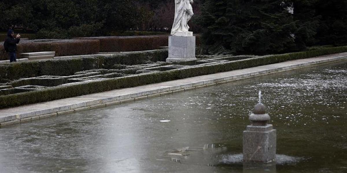 Lago helado en Madrid