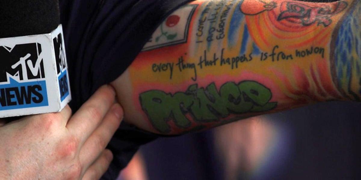 El tatuaje de Ed Sheeran en homenaje a El Príncipe de Bel Air
