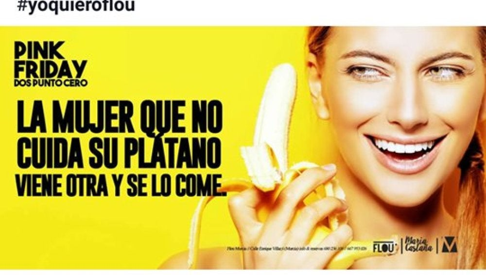 Publicidad machista de un pub de Murcia