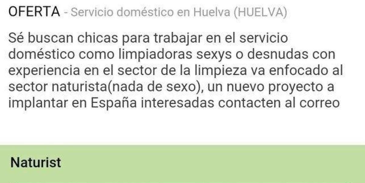 La oferta de trabajo de servicio doméstico