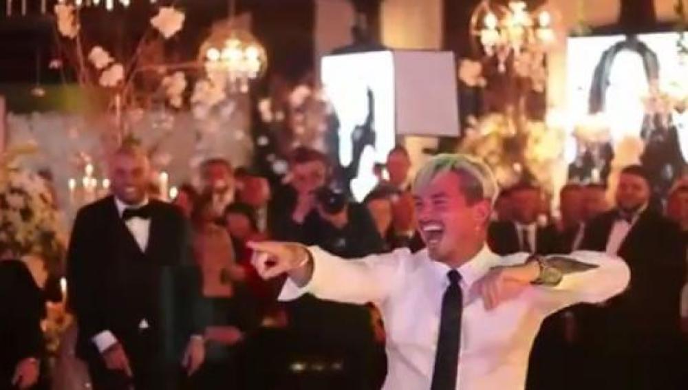 J Balvin en la boda de Nicky Jam