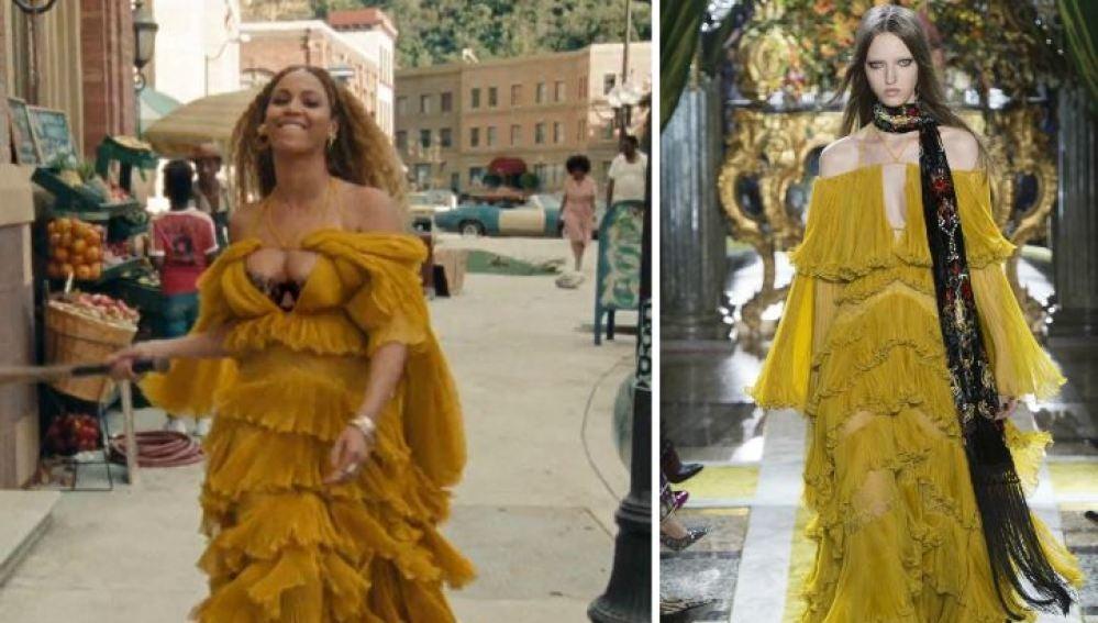Beyoncé vestida de Gucci en el videoclip de 'Hold Up'