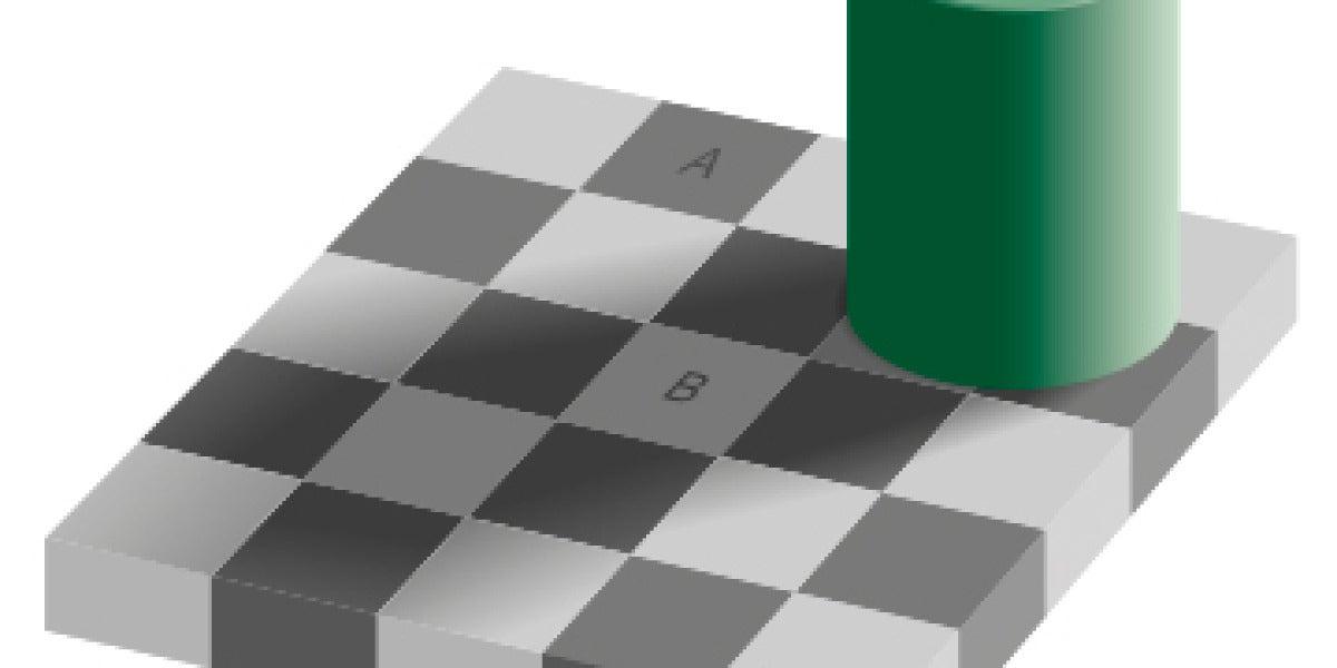 Ilusión óptica del tablero de ajedrez