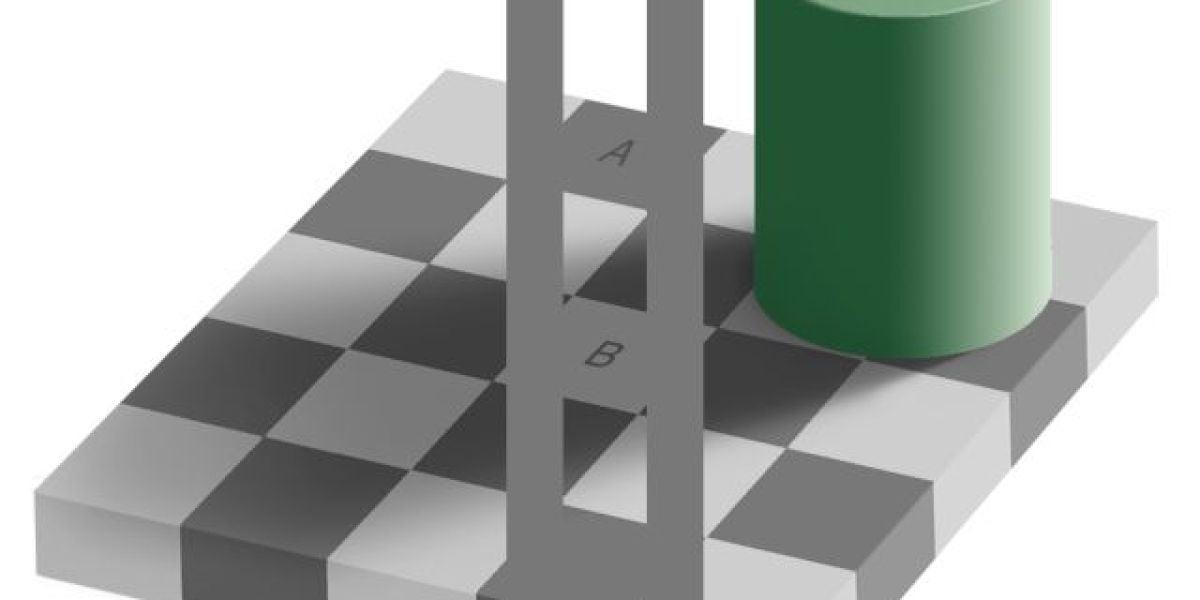 Ilusión óptica del tablero de ajedrez: solución