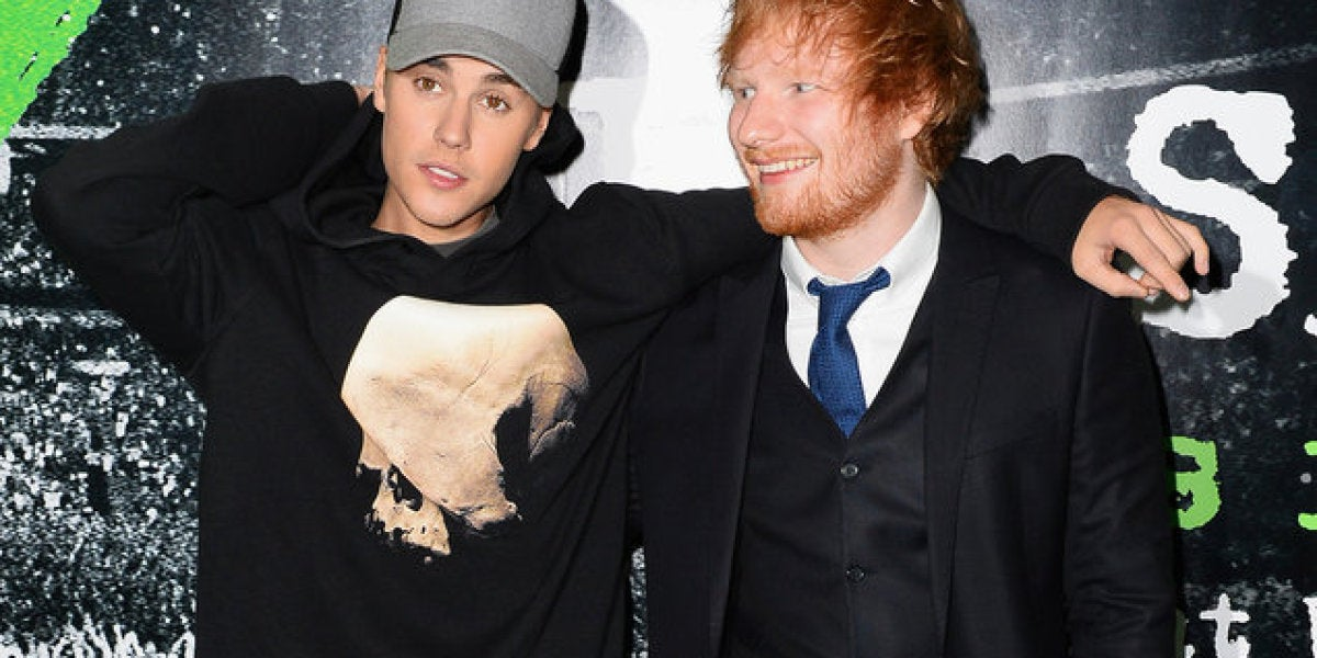 Justin Bieber y Ed Sheeran