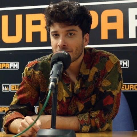 Blas Cantó durante su entrevista con Europa FM