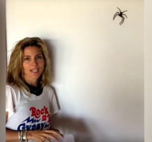 Elsa Pataky cazando una araña gigante
