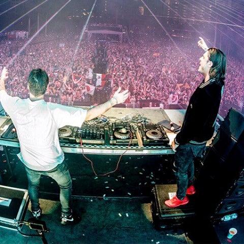 Axwell^Ingrosso durante su sesión en el Ultra Music Festival en Miami