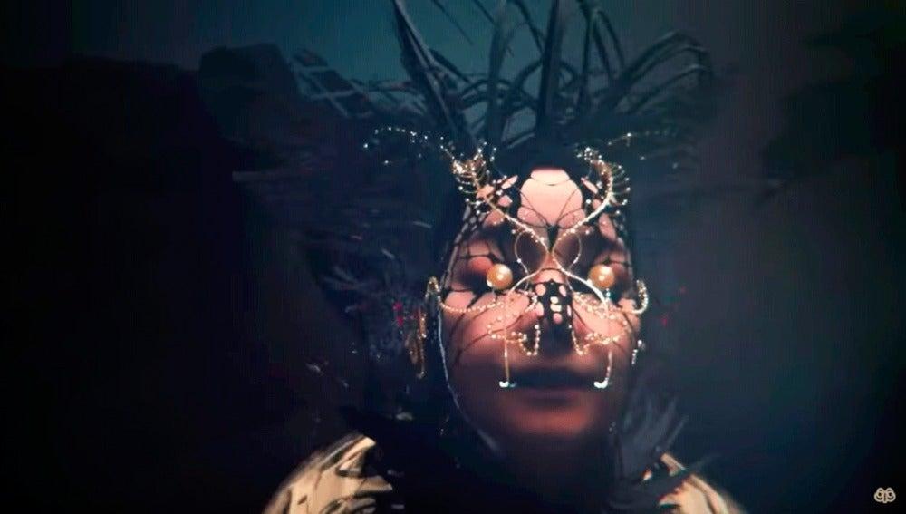 Björk en el vídeo de 'Notget'