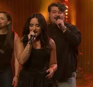 James Corden y Demi Lovato se enfrentan a una batalla de divas