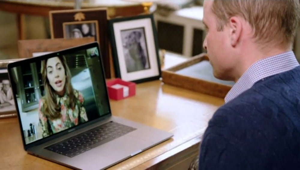 Frame 43.872941 de: Príncipe Guillermo habla de salud mental con Lady Gaga